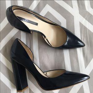 Zara Navy Blue High Heel Pumps size 7
